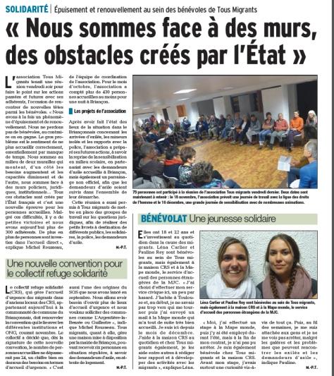 Article du Dauphiné libéré, 05 11 2017